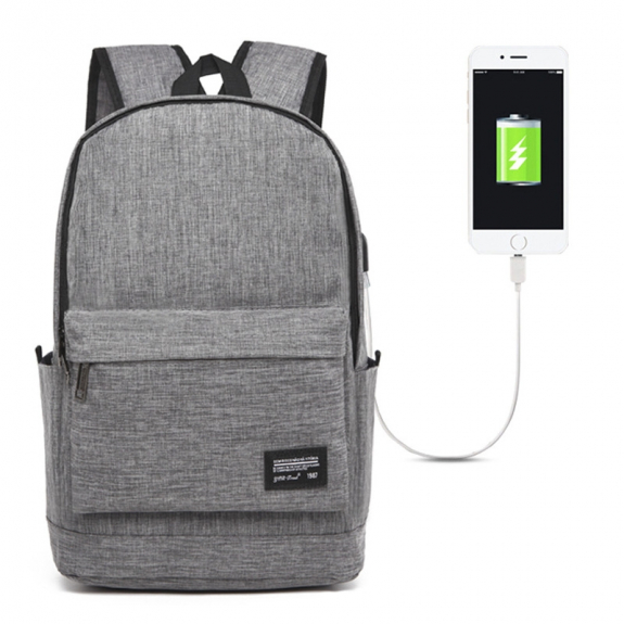 AppleKing univerzální batoh s externím USB portem (45x31x16cm) - šedý - možnost vrátit zboží ZDARMA do 30ti dní