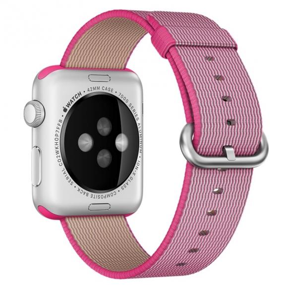 AppleKing tkaný nylonový řemínek pro Apple Watch 42mm - růžový - možnost vrátit zboží ZDARMA do 30ti dní