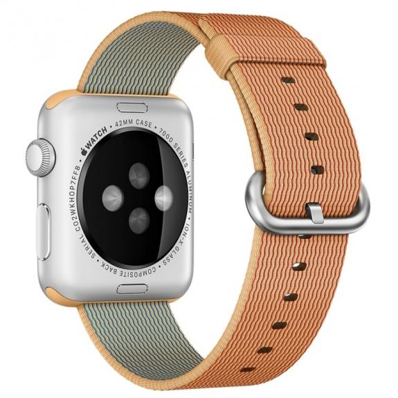 AppleKing tkaný nylonový řemínek pro Apple Watch 42mm - červenozlatý - možnost vrátit zboží ZDARMA do 30ti dní