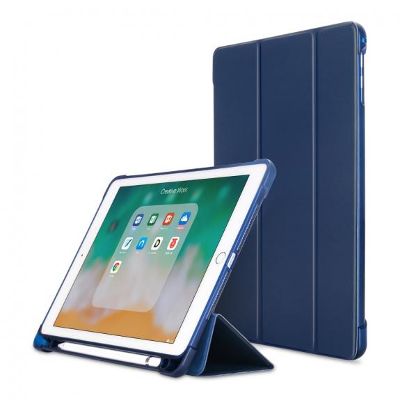 """AppleKing pouzdro pro iPad 9.7"""" (2017/2018) / Pro 9.7"""" / Air 1 / 2 a schránkou na Pencil - tmavě modrá - možnost vrátit zboží ZDARMA do 30ti dní"""