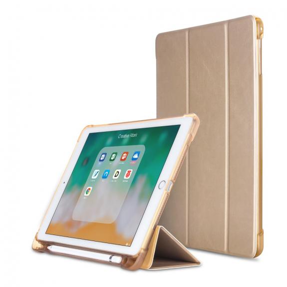 """AppleKing pouzdro pro iPad 9.7"""" (2017/2018) / Pro 9.7"""" / Air 1 / 2 a schránkou na Pencil - zlatá - možnost vrátit zboží ZDARMA do 30ti dní"""