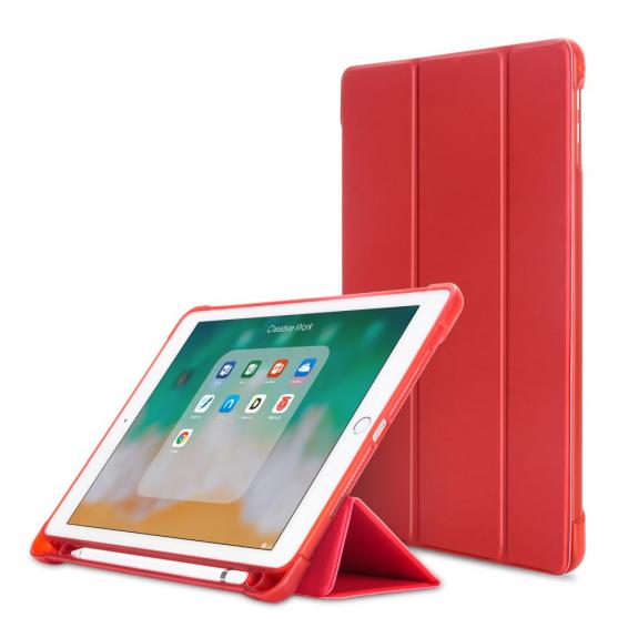 """AppleKing pouzdro pro iPad 9.7"""" (2017/2018) / Pro 9.7"""" / Air 1 / 2 a schránkou na Pencil - červená - možnost vrátit zboží ZDARMA do 30ti dní"""
