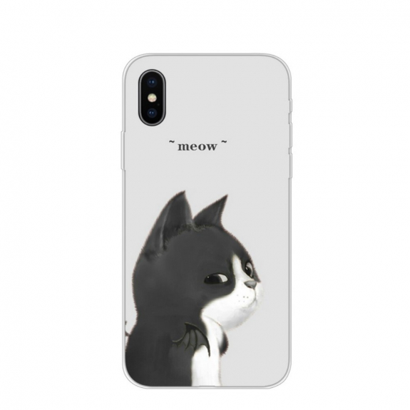 AppleKing ochranný kryt pro iPhone X / XS - arogantní kočka - možnost vrátit zboží ZDARMA do 30ti dní