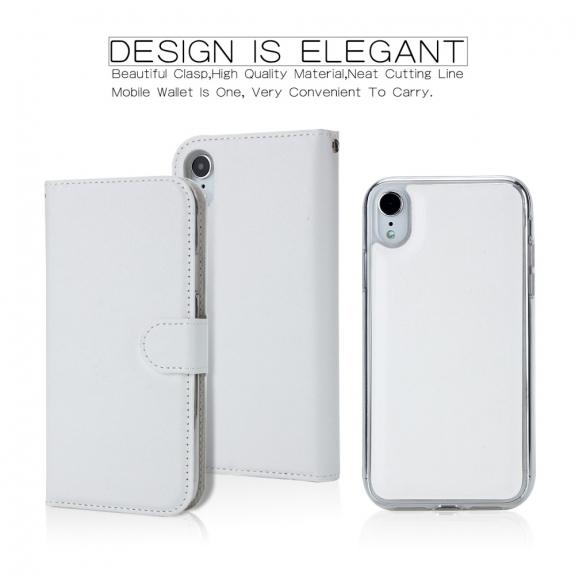 AppleKing flipové odnímatelné pouzdro pro iPhone XR - bílé - možnost vrátit zboží ZDARMA do 30ti dní