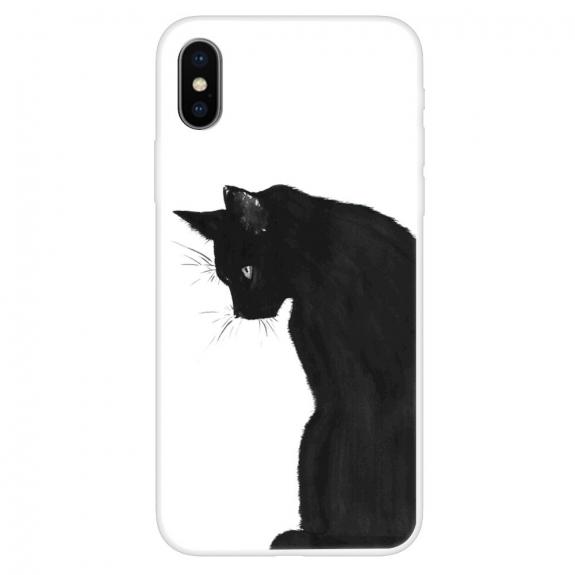 AppleKing měkký kryt pro iPhone XS Max - černá kočka - možnost vrátit zboží ZDARMA do 30ti dní