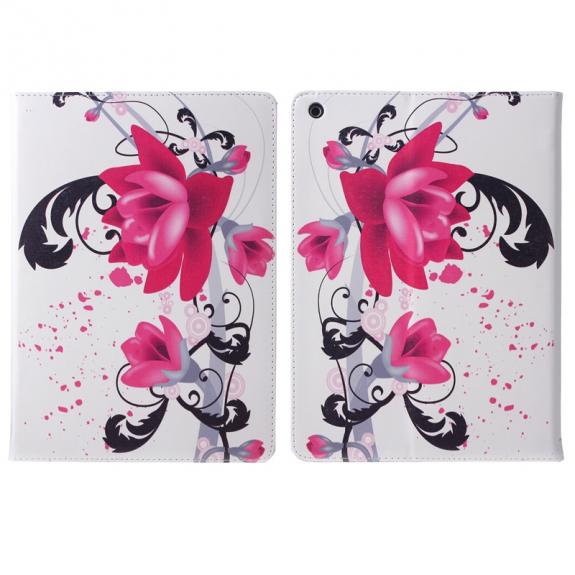 ENKAY pouzdro se stojánkem a prostorem na doklady pro iPad mini / mini 2 / mini 3 - květy - možnost vrátit zboží ZDARMA do 30ti dní