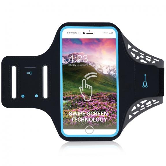 AppleKing sportovní potu-odolné pouzdro na ruku pro Apple iPhone 6 / 6S / 7 / 8 - černé - možnost vrátit zboží ZDARMA do 30ti dní