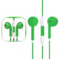 Sluchátka s mikrofonem a dálkovým ovládáním pro Apple zařízení - zelená
