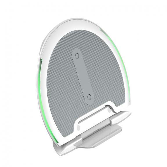 AppleKing bASEUS skládací bezdrátová nabíječka / stojánek pro iPhone - šedá - možnost vrátit zboží ZDARMA do 30ti dní
