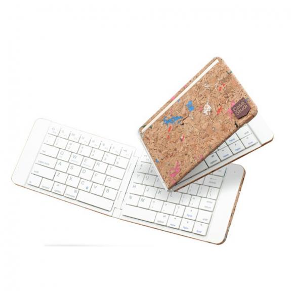 AppleKing skládací bezdrátová klávesnice pro iPad - bílá - možnost vrátit zboží ZDARMA do 30ti dní