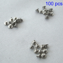 Sada 100ks náhradních šroubků pro klávesnici pro MacBook A1278 / A1286 / A1297 / A1370 / A1369 / A1398 / A1425