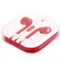 Sluchátka s mikrofonem a dálkovým ovládáním pro Apple zařízení - červená