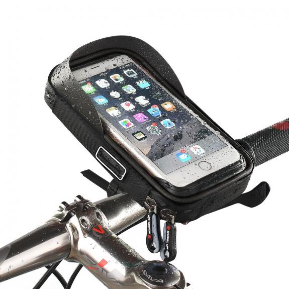 WHEEL UP pouzdro na řidítka pro iPhone - šedá - možnost vrátit zboží ZDARMA do 30ti dní