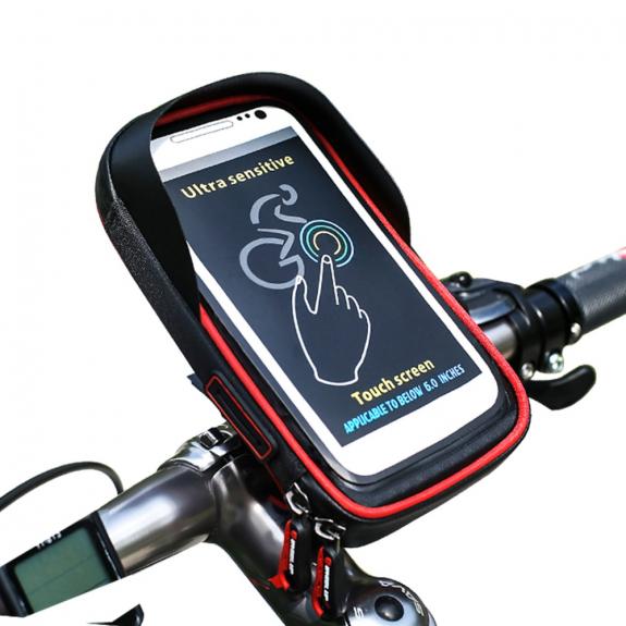 WHEEL UP pouzdro na řidítka pro iPhone - červená - možnost vrátit zboží ZDARMA do 30ti dní
