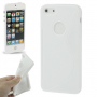"""Ochranný plastový kryt """"S line"""" pro iPhone 5 / 5S / SE - bílý"""