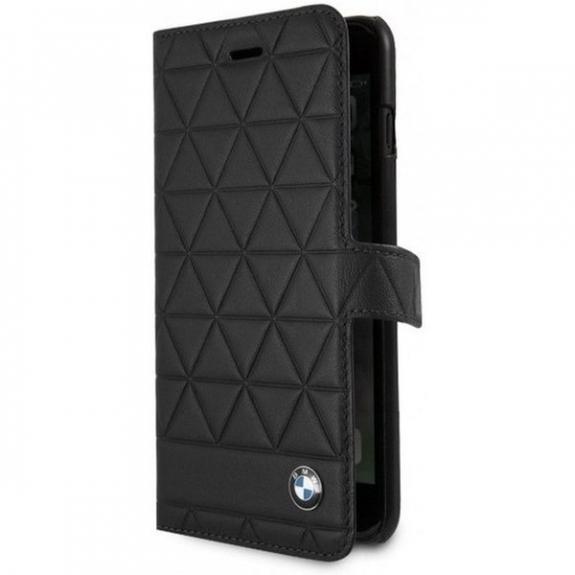 BMW Hexagon leather Book pouzdro pro iPhone 7 Plus / 8 Plus - černá 3700740414668 - možnost vrátit zboží ZDARMA do 30ti dní