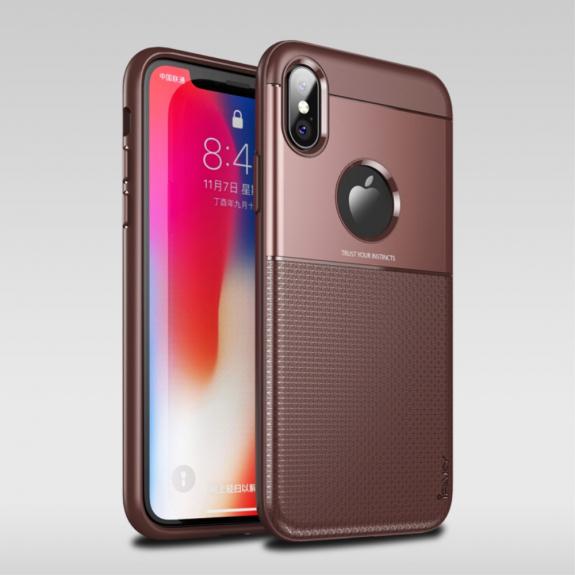 IPAKY Grid kryt pro iPhone XS - hnědá - možnost vrátit zboží ZDARMA do 30ti dní