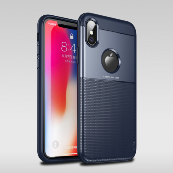 IPAKY Grid kryt pro iPhone XS - modrá - možnost vrátit zboží ZDARMA do 30ti dní