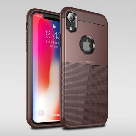 IPAKY Grid kryt pro iPhone XR - hnědá - možnost vrátit zboží ZDARMA do 30ti dní