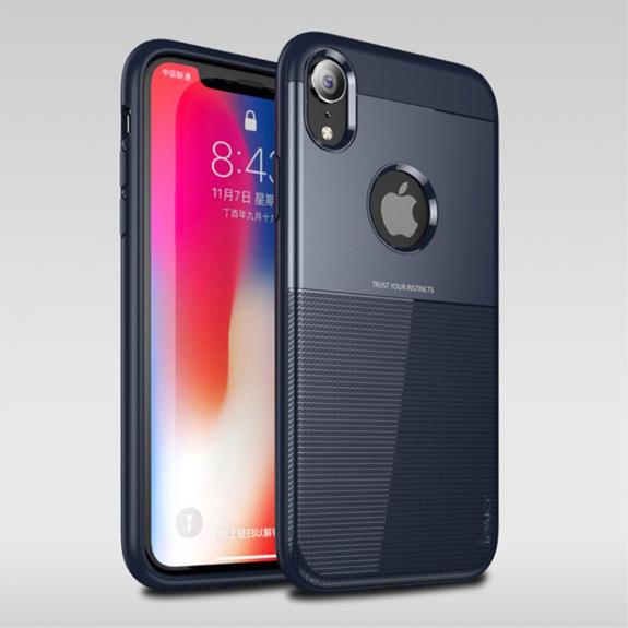 IPAKY Grid kryt pro iPhone XR - modrá - možnost vrátit zboží ZDARMA do 30ti dní