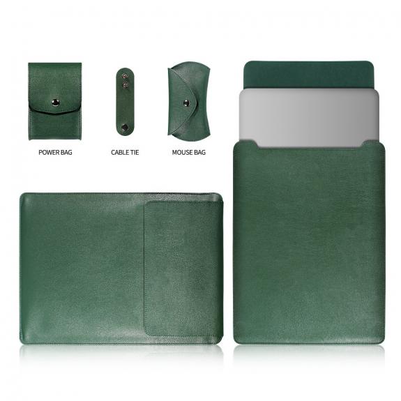 """AppleKing obal pro MacBook Air 13"""" / Pro 13"""" s kapsami na myš a příslušenství - zelená - možnost vrátit zboží ZDARMA do 30ti dní"""