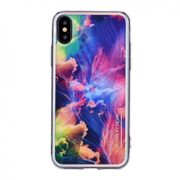 DEVIA kryt pro iPhone X - barevné vlny - možnost vrátit zboží ZDARMA do 30ti dní