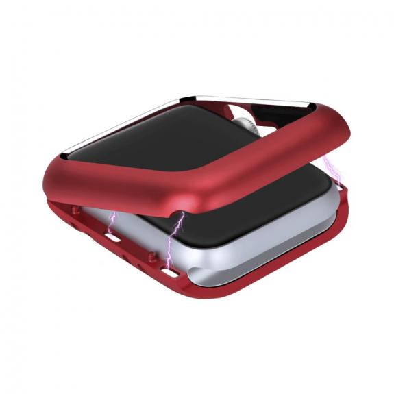AppleKing magnetické kovové pouzdro pro Watch - 38mm - červená - možnost vrátit zboží ZDARMA do 30ti dní