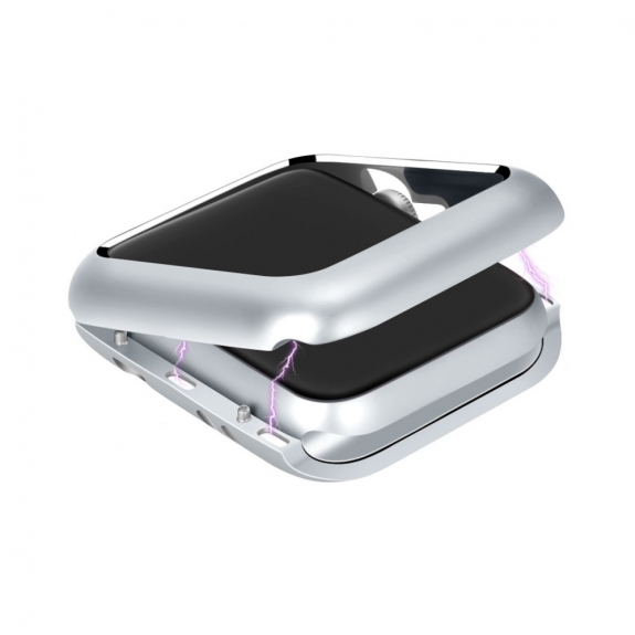 AppleKing magnetické kovové pouzdro pro Watch - 38mm - stříbrná - možnost vrátit zboží ZDARMA do 30ti dní