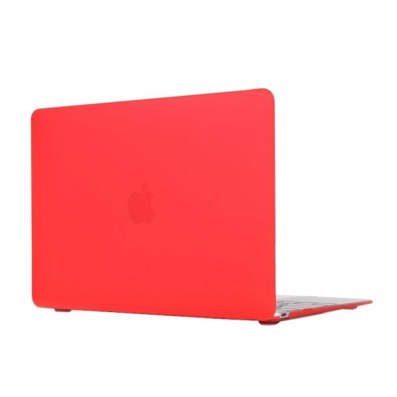 """AppleKing tvrzený ochranný plastový obal / kryt pro Apple Macbook 12"""" - červený - možnost vrátit zboží ZDARMA do 30ti dní"""