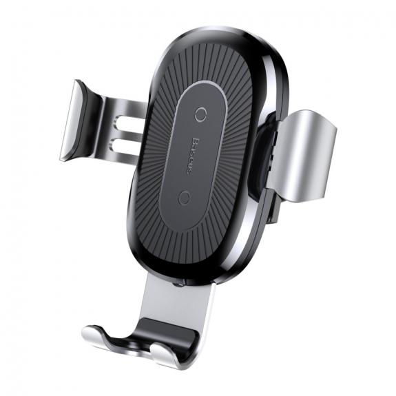 AppleKing bASEUS gravitační držák s bezdrátovým nabíjením - stříbrný - možnost vrátit zboží ZDARMA do 30ti dní