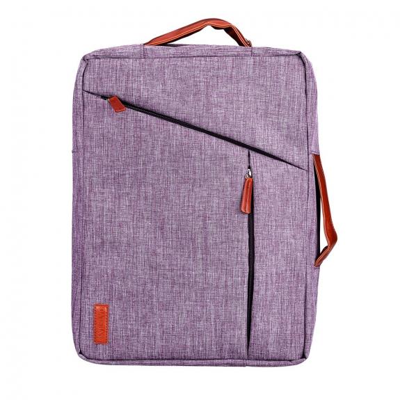 AppleKing moderní brašna / batoh pro MacBook - 28x14x40cm - světle fialová - možnost vrátit zboží ZDARMA do 30ti dní