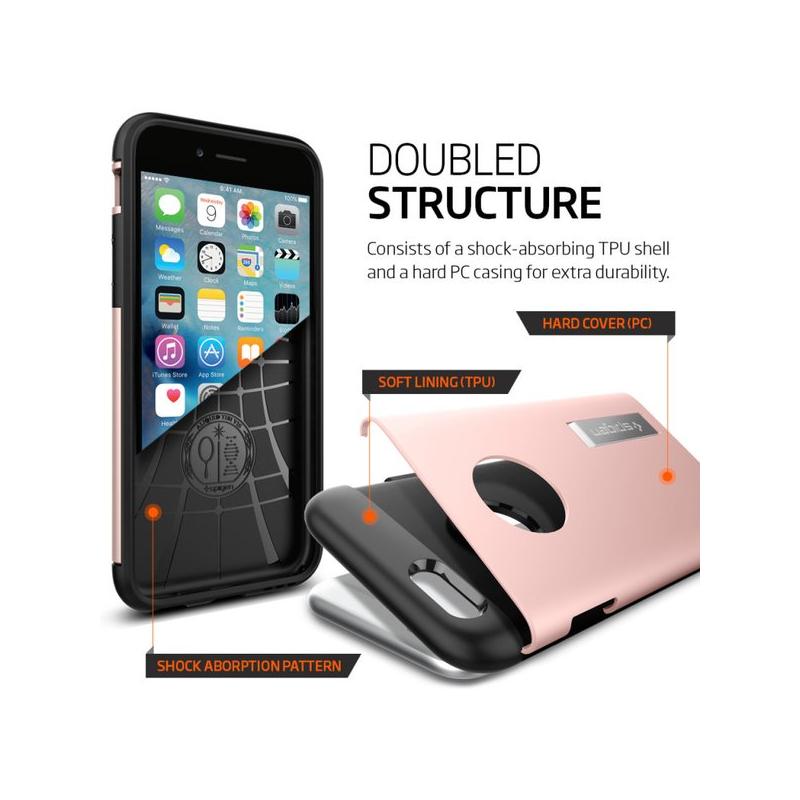 Spigen Slim Armor kryt pro iPhone 6S   6 - růžově-zlatá - AppleKing.cz c85fe648590