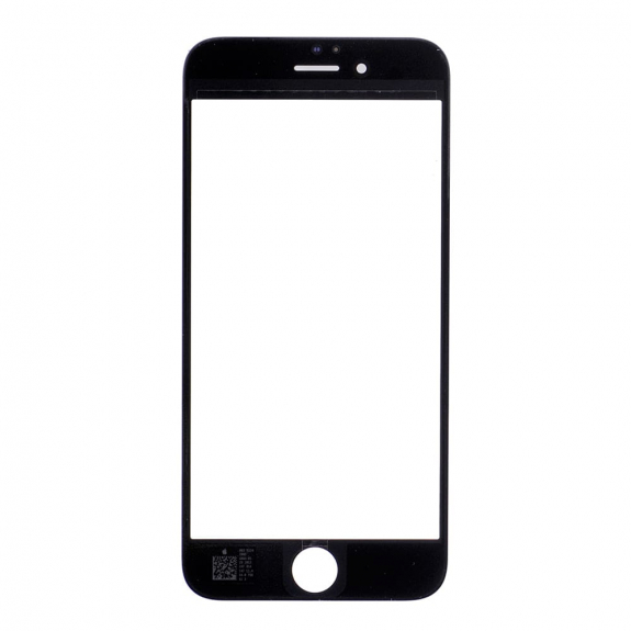 AppleKing přední dotykové sklo, včetně OCA lepidla, POL filmu, rámečků pro přední fotoaparát, proximity sensor a mřížky pro sluchátko, pro iPhone 6 - černá - možnost vrátit zboží ZDARMA do 30ti dní