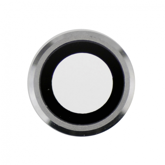 AppleKing Čočka fotoaparátu s rámečkem a LED difuzorem pro iPhone 6S Plus - stříbrná - možnost vráti