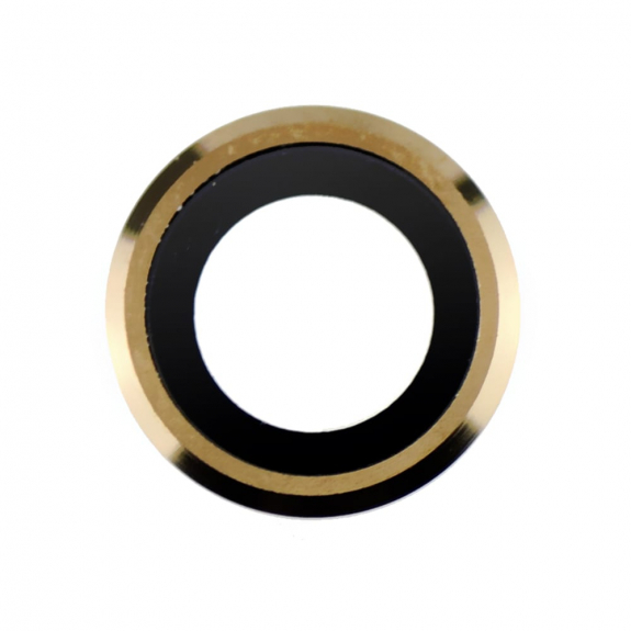 AppleKing Čočka fotoaparátu s rámečkem a LED difuzorem pro iPhone 6S Plus - zlatá - možnost vrátit z