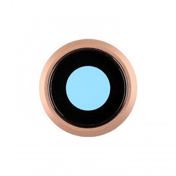 AppleKing Čočka fotoaparátu pro iPhone 8 - zlatá - možnost vrátit zboží ZDARMA do 30ti dní