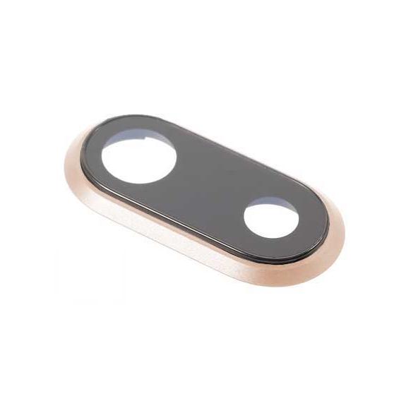 AppleKing Čočka fotoaparátu pro iPhone 8 Plus - zlatá - možnost vrátit zboží ZDARMA do 30ti dní