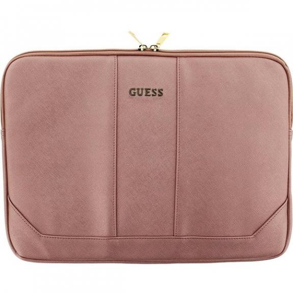 """Guess Saffiano pouzdro pro MacBook 13"""" - růžová 3700740377727 - možnost vrátit zboží ZDARMA do 30ti dní"""