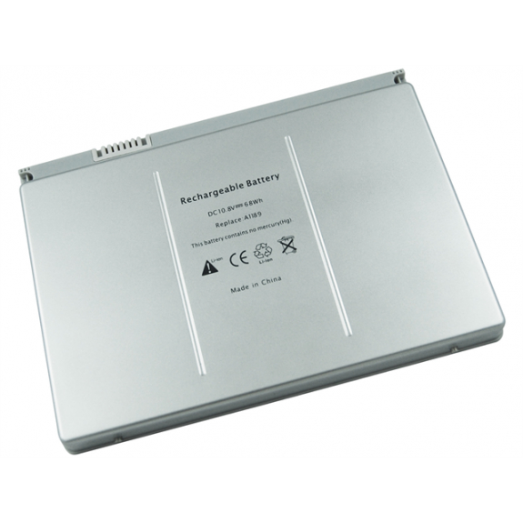 """AppleKing baterie pro Apple MacBook Pro Silver 17"""" A1261 (rok 2006, 2007, 2008) - kód baterie A1189"""