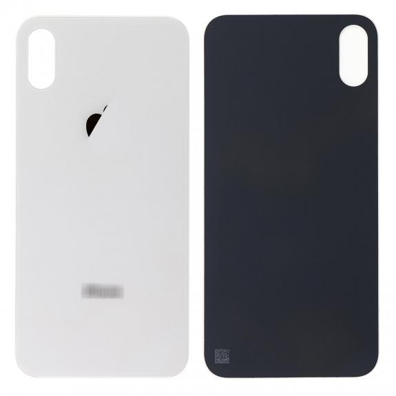 AppleKing náhradní zadní sklo (housing) pro Apple iPhone XS - stříbrné - možnost vrátit zboží ZDARMA do 30ti dní