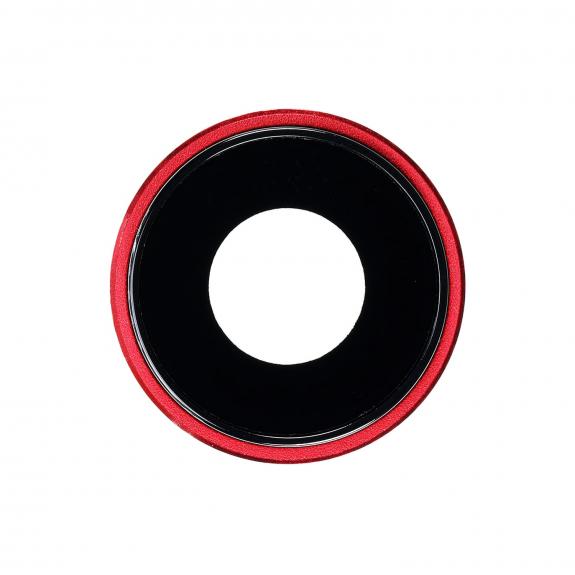 AppleKing náhradní ocelový kruh zadní kamery pro Apple iPhone XR - červený - možnost vrátit zboží ZDARMA do 30ti dní