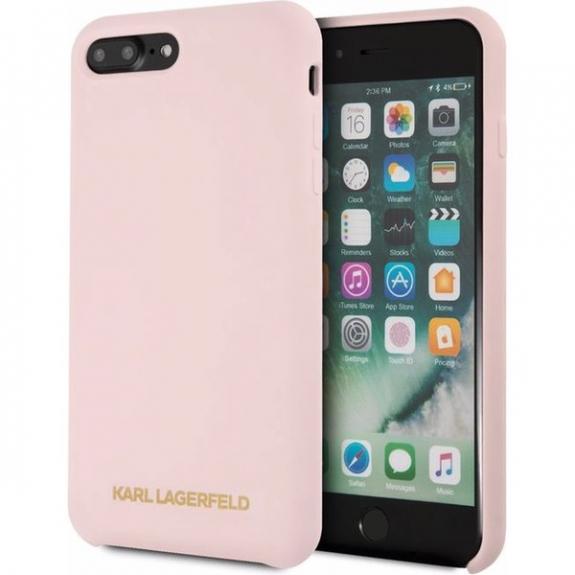 Karl Lagerfeld Gold Logo Silicone Case kryt pro iPhone 7 Plus   8 Plus -  starorůžová 93f0070e338