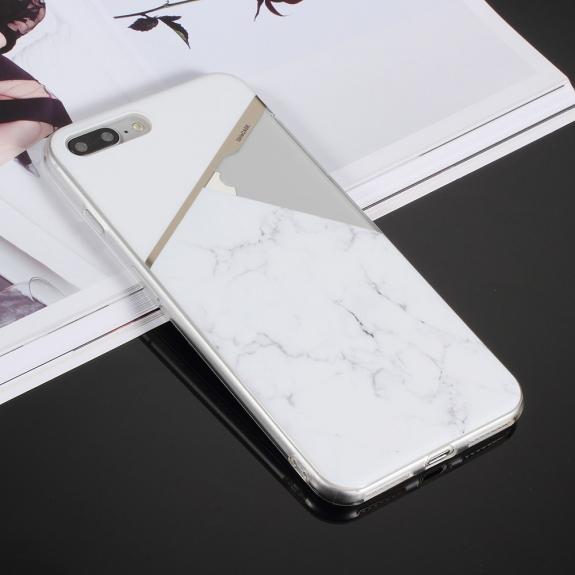 AppleKing ochranný kryt pro iPhone 7 Plus / 8 Plus - bílý mramor - možnost vrátit zboží ZDARMA do 30ti dní