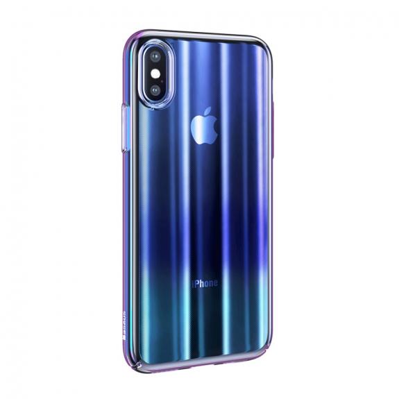 BASEUS Aurora kryt pro iPhone XS - modrá - možnost vrátit zboží ZDARMA do 30ti dní