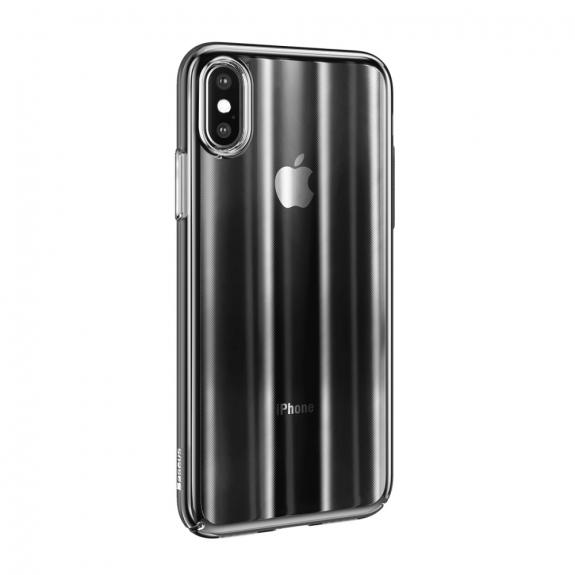 BASEUS Aurora kryt pro iPhone XS - černá - možnost vrátit zboží ZDARMA do 30ti dní