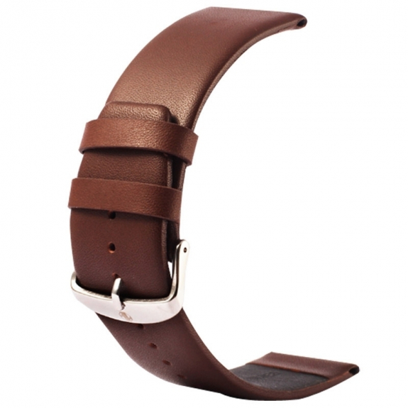 Kakapi kvalitní kožený řemínek s úchyty a sponou pro Apple Watch 42mm - kávový - možnost vrátit zboží ZDARMA do 30ti dní