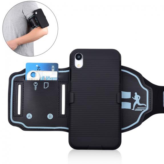 AppleKing sportovní pouzdro na ruku pro iPhone XR - černá - možnost vrátit zboží ZDARMA do 30ti dní