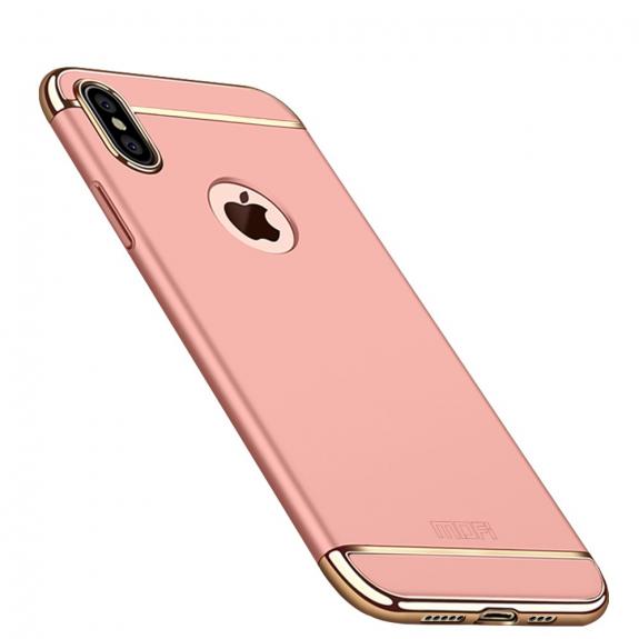 MOFI luxusní kryt pro iPhone XS Max - růžovozlatá - možnost vrátit zboží ZDARMA do 30ti dní