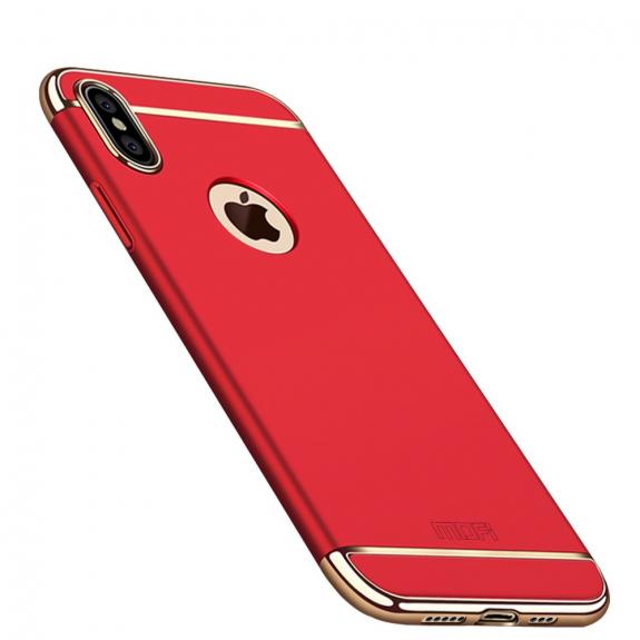 MOFI luxusní kryt pro iPhone XS Max - červená - možnost vrátit zboží ZDARMA do 30ti dní