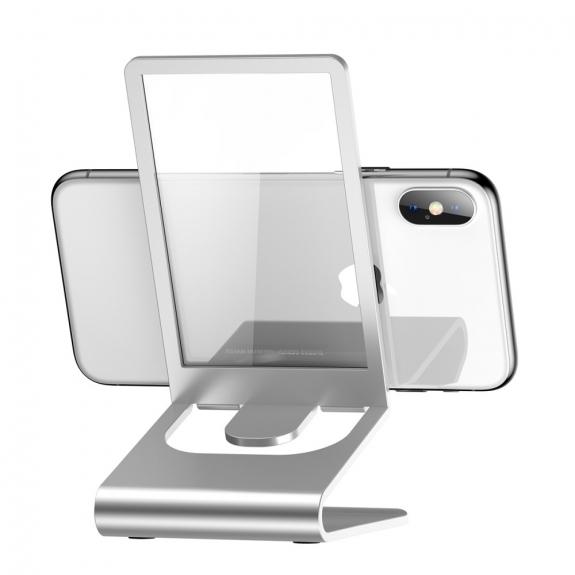 AppleKing bASEUS elegantní stojánek pro iPhone - stříbrná - možnost vrátit zboží ZDARMA do 30ti dní